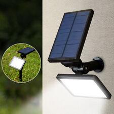 48 LED Exterior Solar Energía Foco Lámpara Pared Paisaje Jardín Patio Luz Blanco
