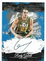 Rudy Gobert 2015 Panini Court Kings Calligraphy Autograph Auto Jazz Card #21/199
