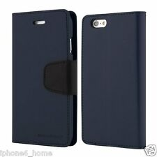 Genuine MERCURY Goospery Leather Wallet Case Cover For iPhone 6/6s & 6/6s Plus