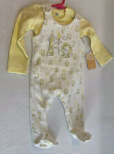 Baby Outfit Set - Giraffe/Tiger Yellow/White 6 months