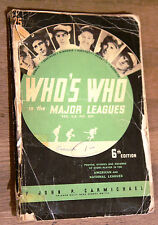 Who's Who in the Major Leagues 6th Edition - 1938 Vintage Baseball Guide