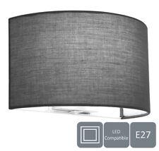 Modern Wall Lights Sconce, Grey Fabric Shade, Semi-Circle Shape