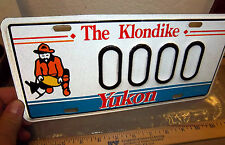 Yukon territory Canada License plate with Gold Panner, 1990s sample style Plate