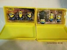 MINIONS MINI FIGURES WITH PLASTIC CASE THINKWAY TOYS DISPICABLE ME Lot of 2