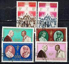 Burundi Papa's African Visits stamps set 1964