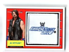 WWE AJ Styles 2017 Topps Heritage SmackDown Com Patch Relic Card SN 68 of 299