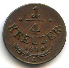 Autriche 1/4 Kreuzer 1816 A KM 2107