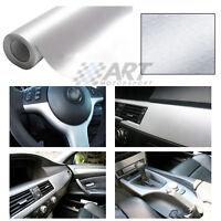 Aluminio cepillado vinilo adhesivo para Bmw E46 Cabrio Coupé M3 moldeable calor