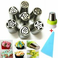 9pcs Baking Tools Russian Tulip Flower Cake Icing Piping Nozzles Decorating Tips