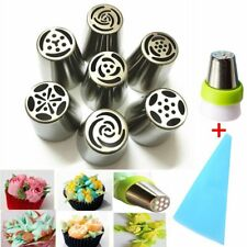 9pcs Russian Tulip Flower Cake Icing Piping Nozzles Decorating Tips Baking Tools