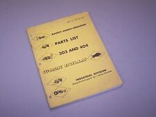 MF 303 304 MF303 MF304 WORK BULL TRACTOR MASSEY FERGUSON PARTS BOOK MANUAL