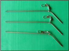 """3 x 6"""" Stainless Steel Bent Anti Tangle Sea Fishing Rig Booms"""