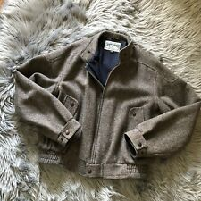 American Eagle Outfitters Army Cotton Lined Wool Bomber Jacket Size XL Vintage