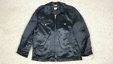 Vtg NEW Pittsburgh Public Safety Security Satin Lined Black Jacket Size 42R USA