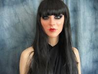 Frauenmaske KIRA +WIMPERN +PERÜCKE - Real. Latex Gesicht Crossdresser Sissy
