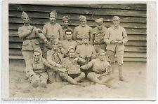 Carte-Photo .Militaires, soldats Français. 57e RI 15 au jus . Camp de SOUGE
