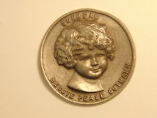 """Large pewter medal: young girl, """"Sunbeam"""" above; artist Bessie Pease Gutmann"""