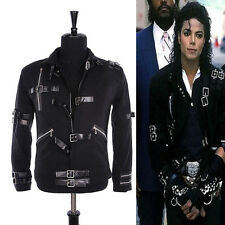 HOT MJ MICHAEL JACKSON MEN'S JACKET PUNK BAD BLACK JACKET FASHION COOL