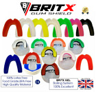 BRITX MMA Mouth Guard Teeth Protection Boxing Gum Shield Rugby Senior-Junior  <br/> ✅Top Rated ✅Food Grade GEL ✅ Smooth Edges Gum Shield