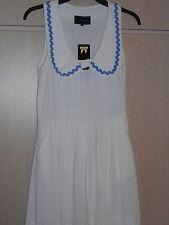 Vintage Retro River Island Blanco Vestido de swing años 60 Bebé Muñeca Peter Pan 10 BNWT