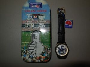 dallas cowboys superbowl watch made by sun time