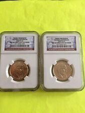 2007 JEFFERSON P&D NGC MS 66 FIRST DAY ISSUE BUSINESS STRIKE 2-COIN DOLLAR SET