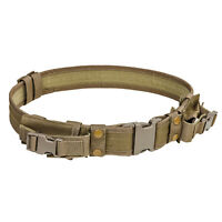 NEW - Tactical 2 inch Adjustable Duty Gun Belt w 2 Magazine Pouches - COYOTE TAN