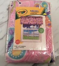 New Crayola Pink Butterfly And Ladybug Valance Kids Room Nwt