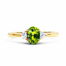 Anillos de joyería verde de oro amarillo diamante