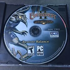 Everquest II 2: Sentinel's Fate DISC 2 ONLY Restore Balance (PC, 2010)