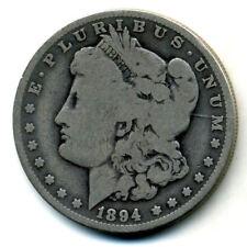1894 O Vg $1 Morgan 90% Silver Dollar Circulated Key Date Us Very Good Coin #773
