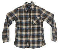 PENDLETON Womens Small Brown Plaid 100% Wool Button Up Shirt Made In USA