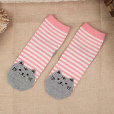 Fashion Cartoon Cat Footprints Soft Socks Women Girl Starry Night  stripe Socks