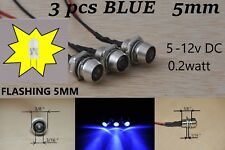 12v led Indicator Lights 3 pcs BLUE Lamp Pilot Dash Directional Car Truck Boat