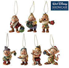 Disney Traditions Snow Whites  Seven Dwarfs Hanging Christmas Tree Decorations
