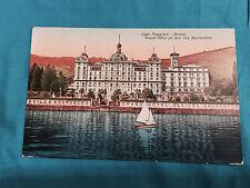 Grand Hotel Des Iles Borromees Lago Maggiore Stresa Postcard Vintage