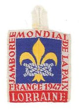 1947 World Scout Jamboree LORRAINE Sub Camp OFFICIAL PARTICIPANTS Patch