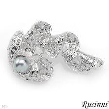RUCINNI Brooch W/Faux pearl& Genuine Swarovski Crystals