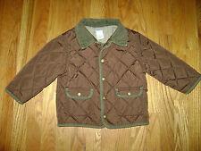 GYMBOREE BOYS JACKET COAT size 2T BROWN GREEN EXCELLENT CONDITION