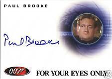 JAMES BOND 007 ARCHIVES A126 AUTOGRAPH CARD PAUL BROOKE