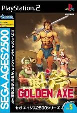 Used PS2 Golden Axe sega ages 2500 series vol.5 SONY PLAYSTATION JAPAN IMPORT