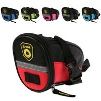 MTB Bike Bicycle Saddle Bag Under Seat Storage Tail Pouch Cycling Rear Pack