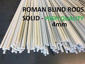 Fibreglass Roman Blind Rods 4mm SOLID - 3m Long (10 feet)  - CHEAPEST ON EBAY