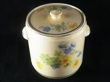 Pantry Bak-In Ware 1238 Crooksville Pink Yellow Blue Flowers Cookie Jar Canister