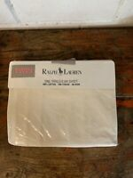 Ralph Lauren Avery White Ivory TWIN Fitted Sheet Damask Brand New!