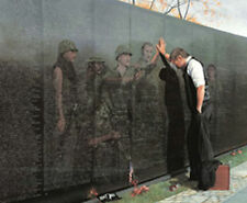 Reflections by Lee Teter Military Vietnam Memorial Wall Print 30x23