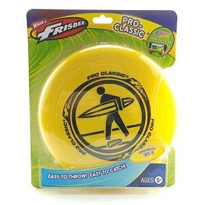 Wham-O Pro-Classic 130g Frisbee Yellow with U-Flex Durable Soft Easy Grip