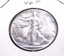 1946 P 50C Walking Liberty 1946 Silver Half Dollar 50 Cents Unc Private Seller