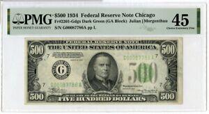 1934 $500 Five Hundred Dollars Federal Reserve Note Chicago PMG 45 - JM185
