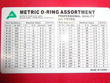 007006 ASSORTIMENTO 386 PZ  GUARNIZIONI OR O-RING ORING METRICI IN CASSETTA U3